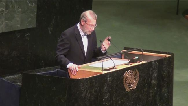 Photo of Iranian speaker slams 'warmongering' in name of 'democracy'