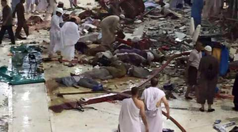 Photo of Photos- At least 107 people, killed as crane crashes on pilgrims in Mecca