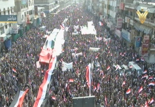 Photo of Yemenis Stage Huge Protest against Zionist Violation in Al-Aqsa