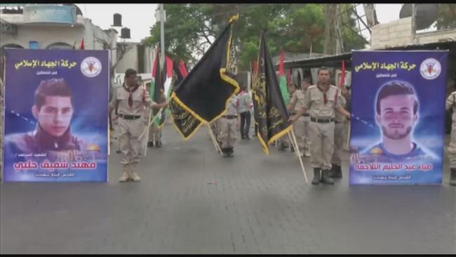 Photo of Gazans mark Palestinian Islamic Jihad foundation anniv.