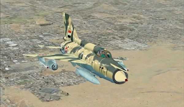 Photo of Terrorist ISIL Camp near Palmyra Bombed by Syrian Fighter Jets