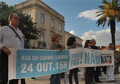 Photo of People Rally in Lisbon Protesting against NATO Exercises