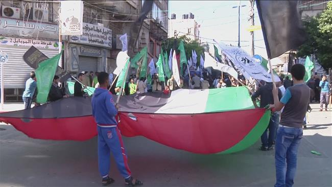 Photo of Gaza residents rally in support of Palestinian uprising in West Bank