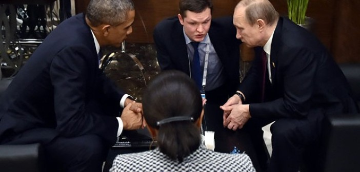 Photo of Zionist brothers Putin and Obama discuss situation in Syria on sideline of G-20 summit
