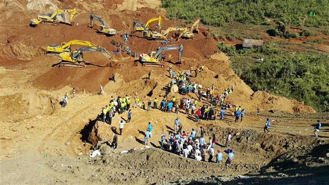 Photo of Five dead, 50 people missing in Myanmar landslide