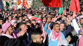 Photo of Palestinians bid farewell to martyr Shaheen in Bethlehem
