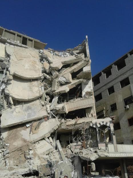 Photo of Photos Show Site of Israeli Strike in Jaramana