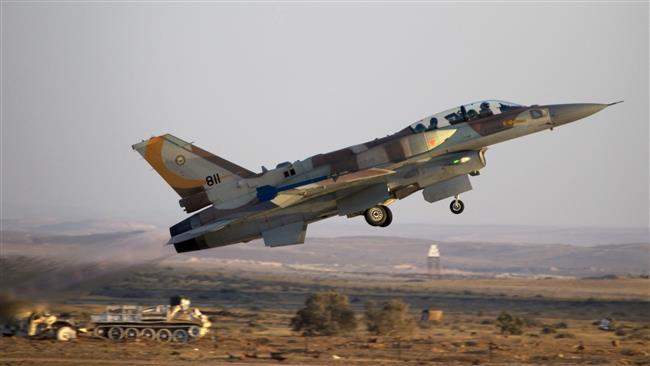 Photo of Zionist regime warplanes target area in southern Gaza Strip