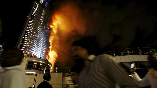 Photo of Huge fire erupts in Dubai hotel ahead of New Year festivities