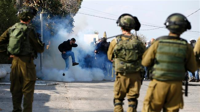 Photo of Palestinian students injured in clashes with Zionist regime forces