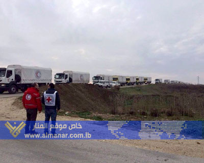 Photo of Aid Convoys Arrives in Besieged Syrian Towns of Kefraya & Fouaa