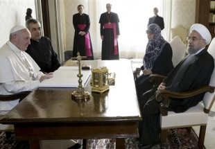 Photo of President Rouhani, Pope meet at Vatican