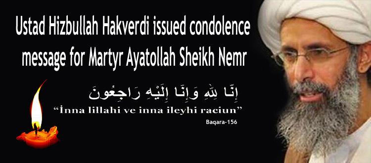 Photo of Turkey's Prominent Cleric Ustad Hizbullah Hakverdi issued condolence message for Martyr Ayatollah Sheikh Nemr