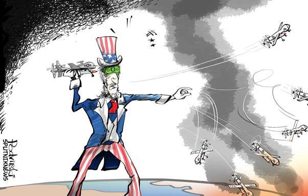Photo of Caricature: American Drones downed in Turkey's Adana Province..