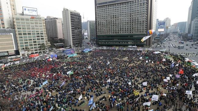 Photo of S Koreans hold anti-government rally