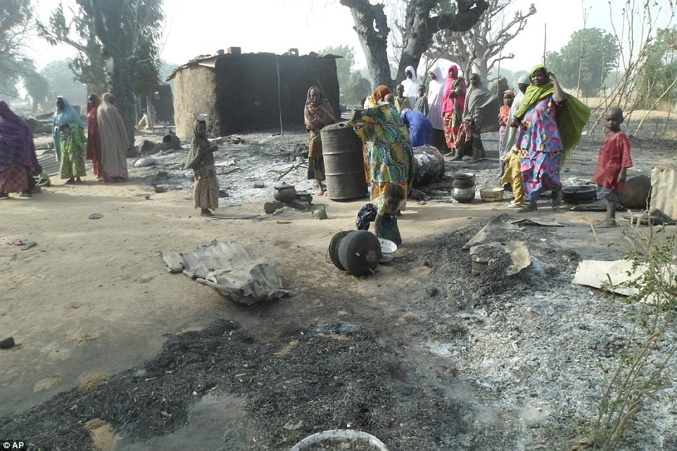 Photo of PHOTOS: US-isarel's Terror Gang in Africa Boko Haram Torched a Village in NE Nigeria, 50 Villagers Killed