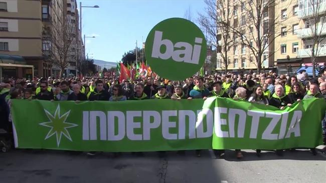 Photo of 1000s of people rally in Spain's Basque to demand independence