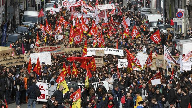 Photo of French hold protest against government-proposed reforms