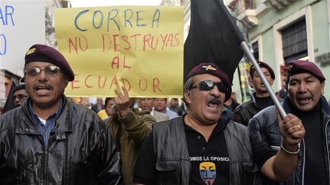 Photo of Protesters in Ecuador rally against government labor reforms