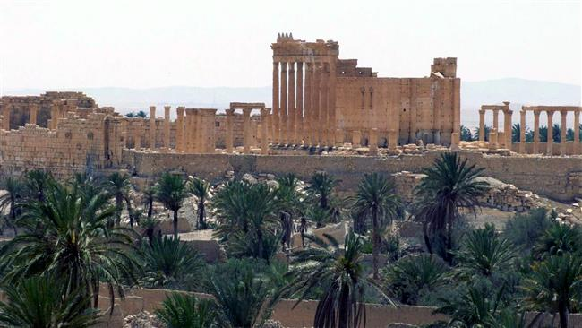 Photo of Syrian forces enter Palmyra