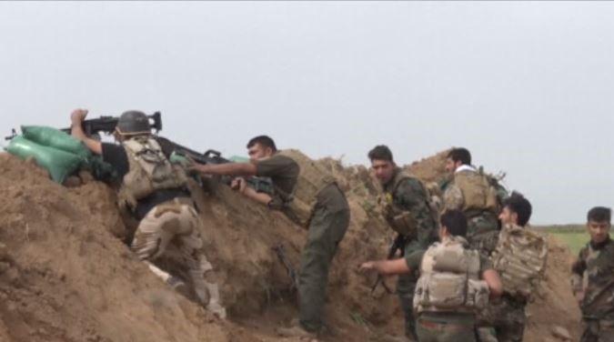 Front LINE VIDEO Against DAESH: Iraqi Shia Fighters Advancing Near Kirkuk