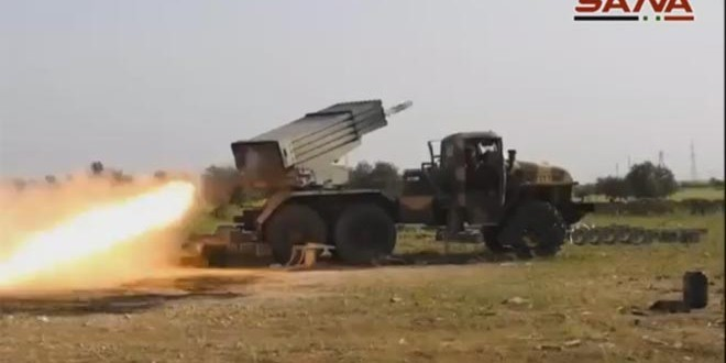 VDO: Syrian Army Pounds Daesh, Nusra Terrorists in Aleppo and Damascus