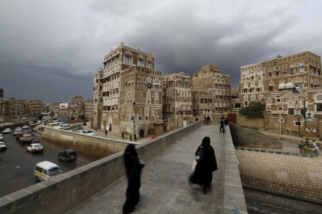 Women walk on a bridge in the old quarter of Yemen's capital Sanaa April 9, 2016. REUTERS/Khaled AbdullahREUTERS/Khaled Abdullah
