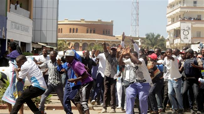 Photo of DR Congo police teargas opposition protesters in Lubumbashi