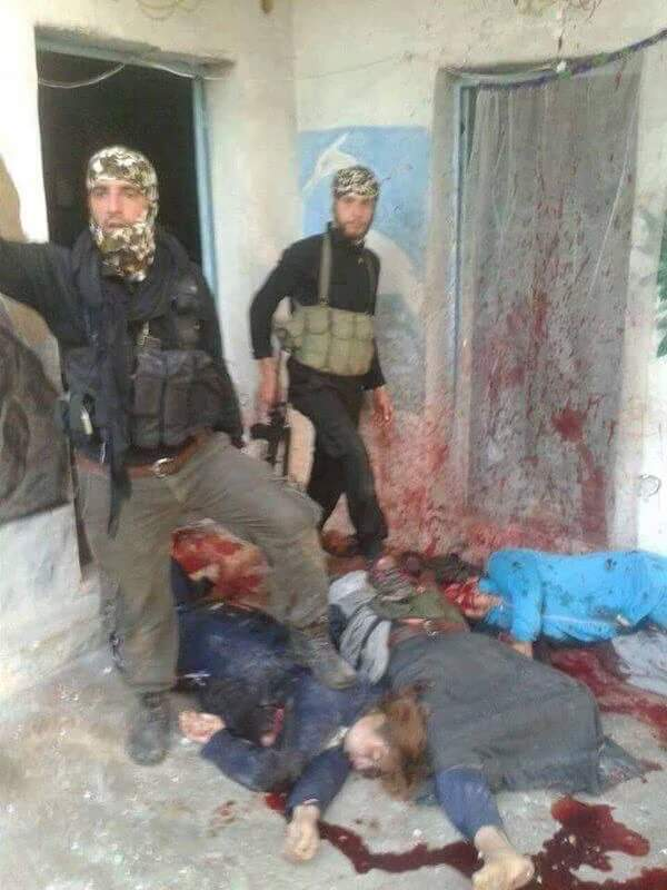 Photo of Turkey trained, armed USA's moderate rebels massacred civilians in a village in Syria