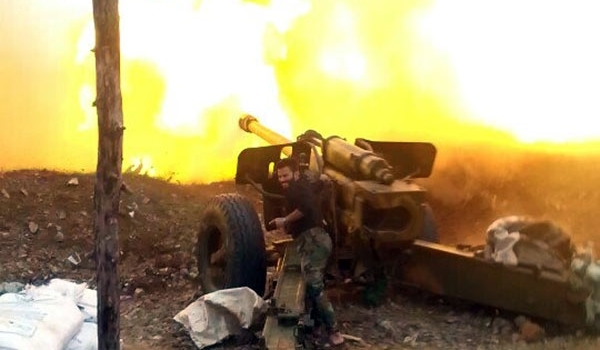 Photo of ISIL Convoy Destroyed by Syrian Army's Heavy Shelling in Sweida