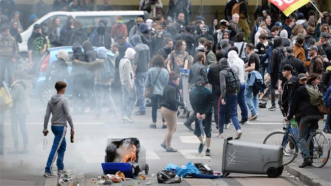Photo of Police, protesters clash at reforms demo France's Nantes