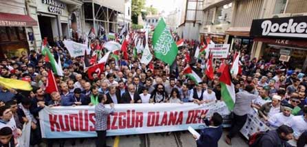Photo of Turkish activists commemorate Marmara massacre