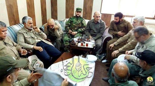 Photo of Quds Army Commander Major General Suleimani in Fallujah Operation Room