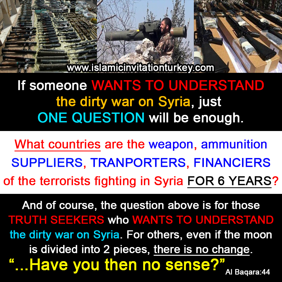 Photo of If someone WANTS TO UNDERSTAND the dirty war on Syria, just ONE QUESTION will be enough.