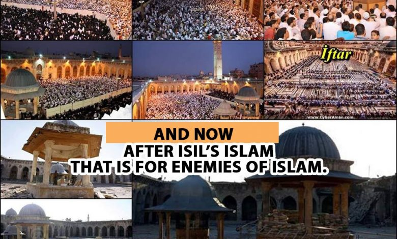 Photo of Photo of Aleppo Masque shows ISIS destroy the image of Islam and Ramadan