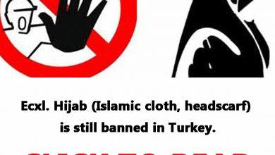 Photo of Ecxl. Hijab (Islamic cloth, headscarf) is still banned in Turkey