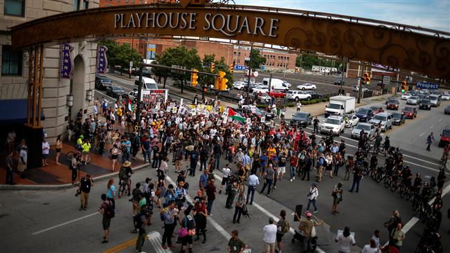 Photo of Hundreds protest in Cleveland ahead of Republican National Convention