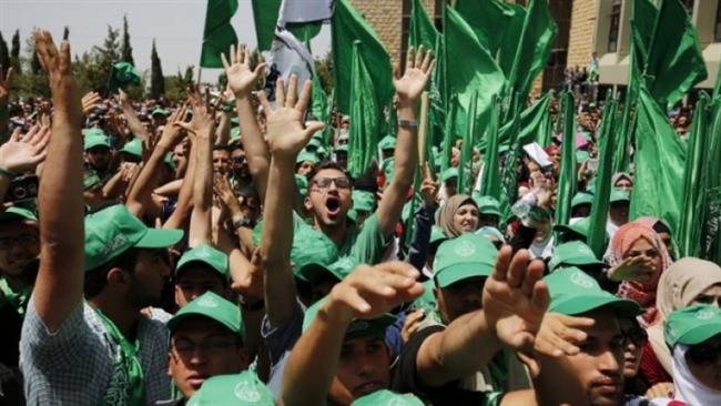 Photo of Hamas calls for 'Day of Rage' during Peres funeral