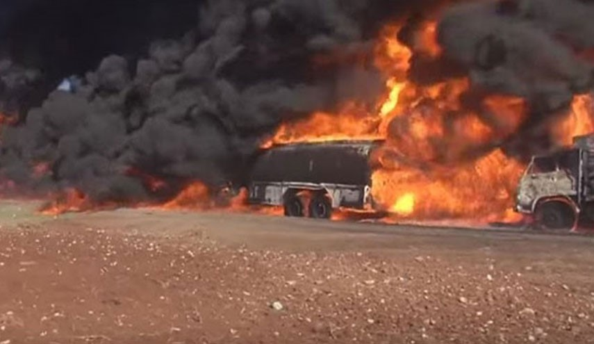 Syrian Army Destroys Several ISIL's Oil Tankers