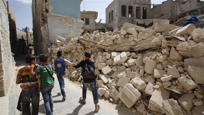 Photo of Bloody handed terrorists shell Aleppo school, kill children