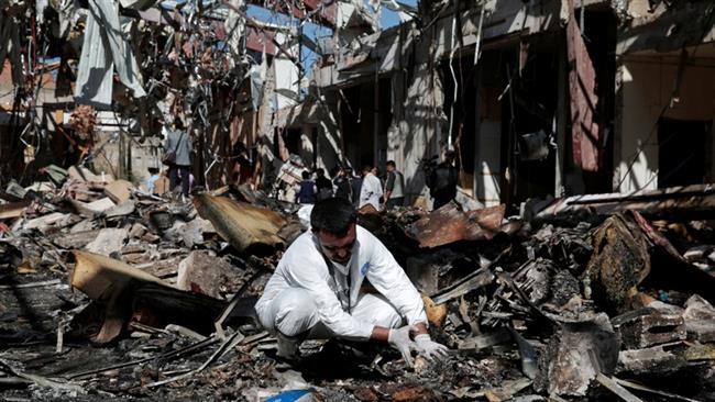 Photo of Saudi bombing of Yemen funeral 'apparent war crime': HRW