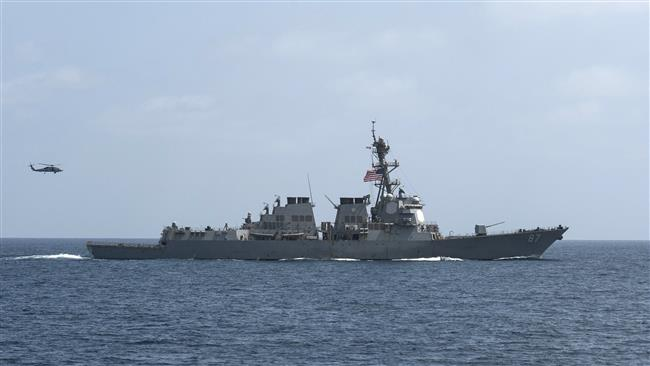 Photo of Great Satan warmonger US claims warship targeted by missiles in Red Sea for 2nd time