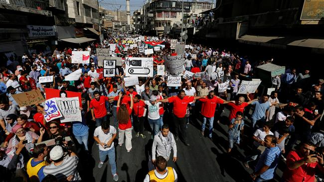 Photo of Hundreds of Jordanians protest against gas deal with terror regime israel