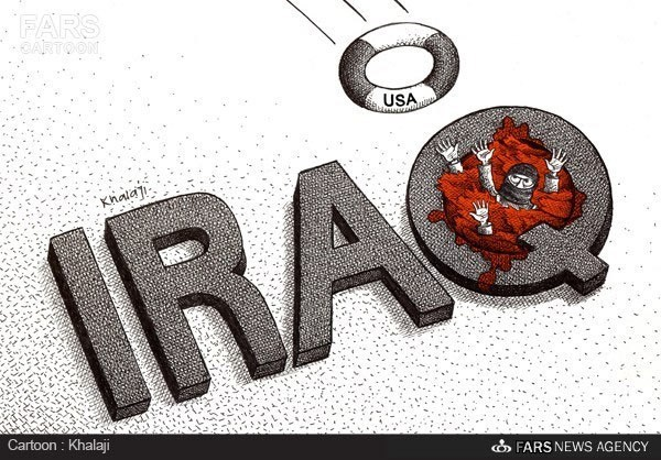 Photo of Cartoon- ISIL Receives US Aids in Iraq