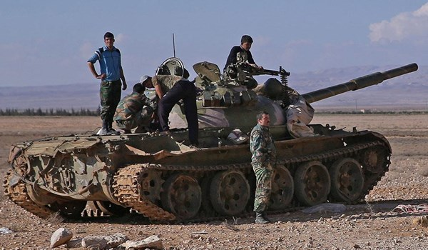 Photo of Syrian Army Extending Chain of Security in Damascus province