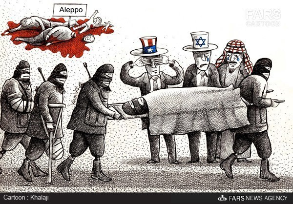 Photo of Caricature: US-israel, Turkey, KSA, Allies Shed Tears for Terrorists of Aleppo