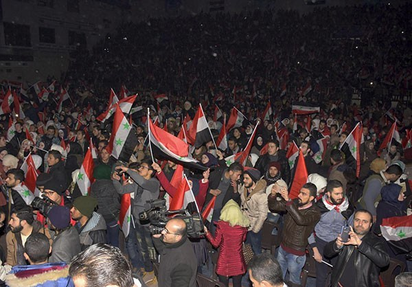 Photo of Photos- Syrian Students Celebrate Aleppo Victory