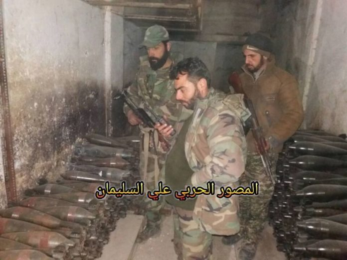 Photo of Photos-Syrian Army discovers a large munitions depot in Old Aleppo