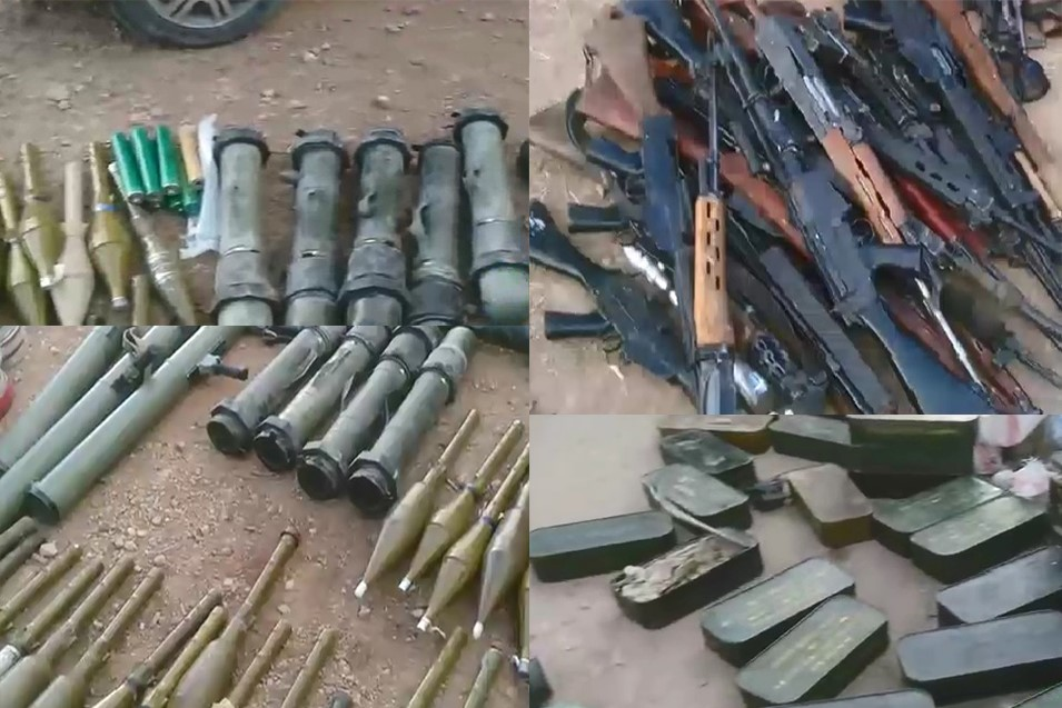 Photo of Khan Al-Sheh Militants Surrender Loads of Weapons to Syrian Army