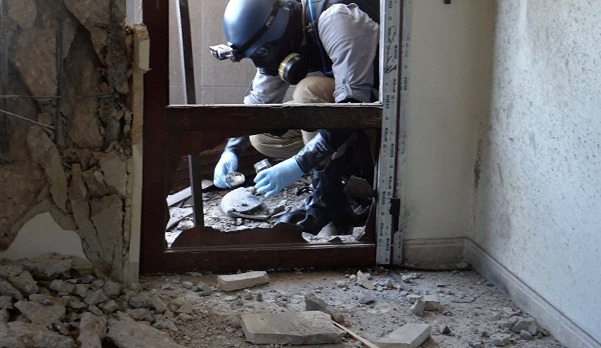 Photo of Damascus Gives OPCW Evidence of Terrorists' Gas Attack in Syrian City of Aleppo